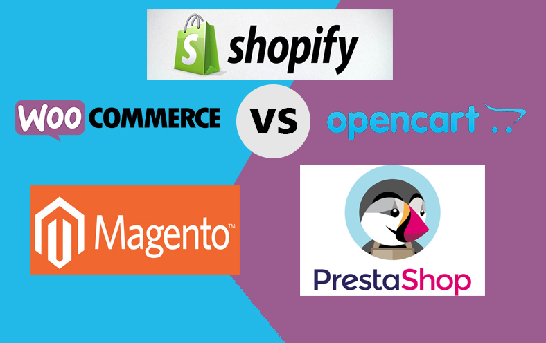 Shopify vs Magento vs Prestashop vs Woocommerce vs OpenCart
