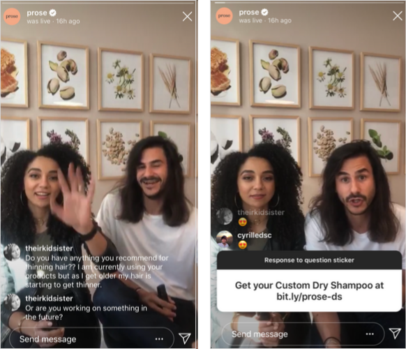live videos by influencers