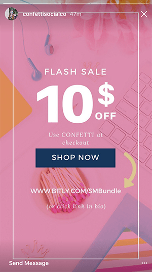 instagram sale and discount codes