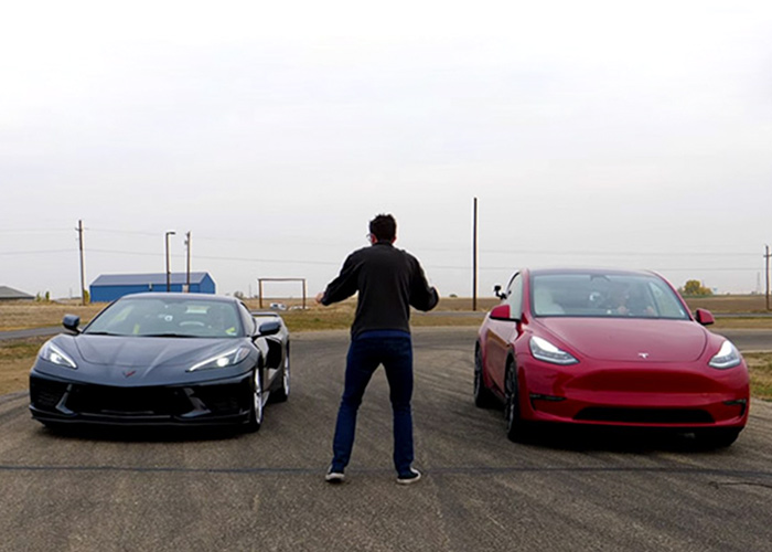 Tesla Model Y and Chevrolet Corvette C8 similarities and differences