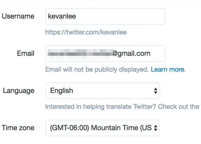 Verify your phone number and email on Twitter