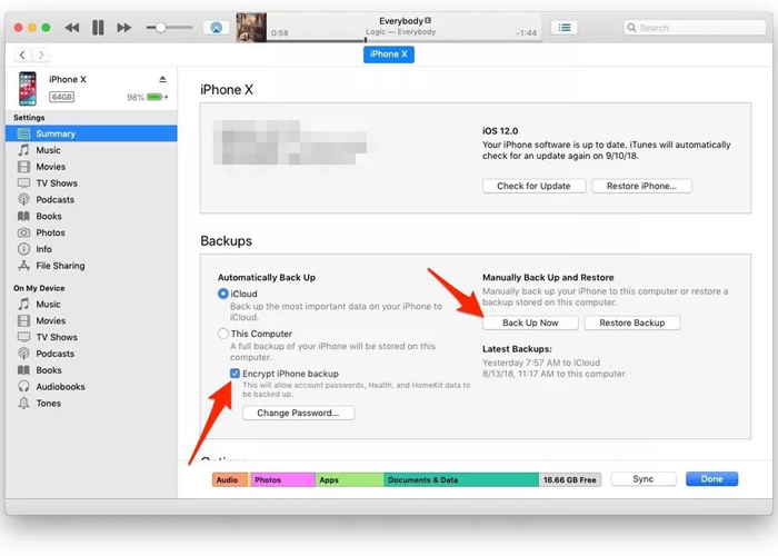 iTunes backups will make you more secure