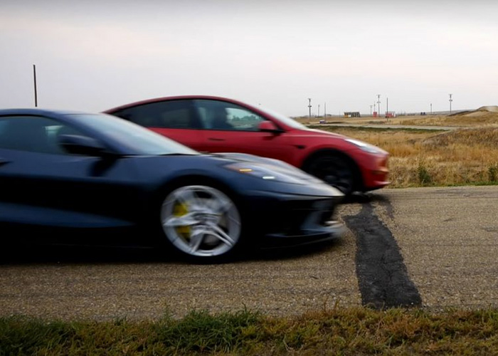 The Model Y only beats the Corvette by a bumper