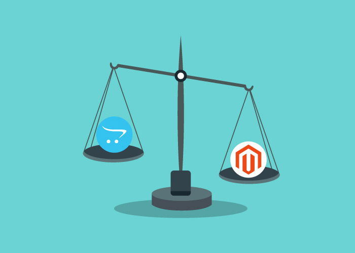 Both Magento and OpenCart are used to set up large online stores